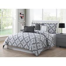 White Black Comforter Sets Clarisse Coral Grey White 7 Piece Full Queen Comforter Set