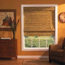 Natural Bamboo Blinds Kona Roman Shade Natural 35x72 Walmart Com