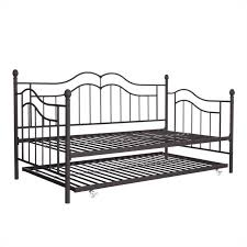 the metal frame daybed and trundle in twin in brown 4008959