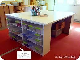 Scrapbooking Tables Desks 182 Best Build It Craft Hobby U0026 Office Storage Images On