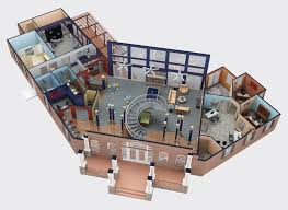modern building cad architectural apartment plan blueprint drawing