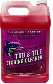 porcelain ceramic glass etching cleaner bathtub refinishing