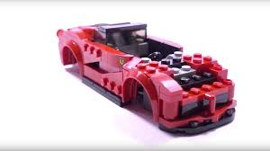 lego speed champions ferrari stop everything and watch this lego speed champion laferrari build