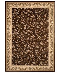 Brown Area Rug Closeout Km Home Area Rug Princeton Floral Brown 5 3 X 7 4