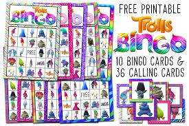 trolls free printable bingo cards trolls birthday party game