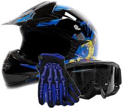 black motocross bike amazon com youth offroad gear combo helmet gloves goggles dot