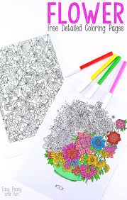 easy peasy coloring page flower coloring pages for adults easy peasy and fun