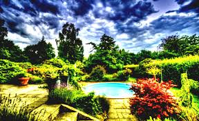 beautiful gardens around a pool garden hd wallpapers amazing and