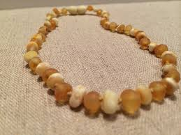 baby bead necklace images 11 inch baltic amber teething necklace baby authentic jpg