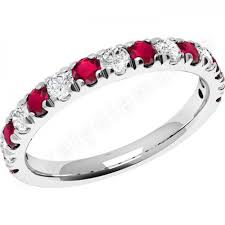 ruby eternity ring cut ruby diamond eternity ring in 18ct white gold