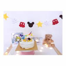 mickey mouse photo booth aliexpress buy hot sale mickey mouse highchair banner 1st