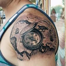 tattoo compass realistic 23 great compass tattoo ideas for men styleoholic