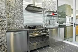 Metal Kitchen Backsplash Metal Kitchen Shelves Industrial Look Modern Metal Kitchen