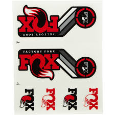 fox motocross stickers fox racing shox stickers