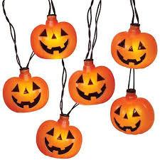 8 flashing led pumpkin halloween string lights with sound