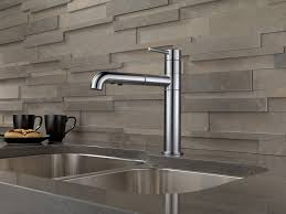 delta signature kitchen faucet chrome single handle pull out hd delta 9159 dst trinsic single handle pull kitchen faucet in