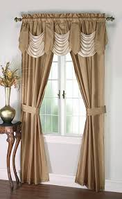 Dining Room Valances by Cannon 5 Piece Curtain Panels Valance U0026 Tiebacks Bellany