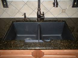 black countertop with black sink kitchen sinks apron composite granite sink u shaped brushed nickel