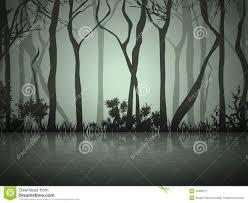 halloween forest background fog forest near lake stock image image 37983771