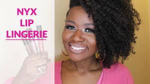 Lingerie Honeymoon Nyx Lip Lingerie Swatches Review On Dark Skin Black Woman Youtube