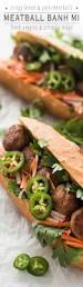vegan sriracha mayo meatball bánh mì sandwich