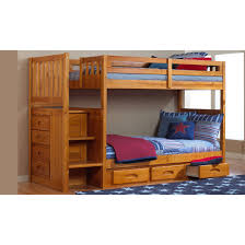Bunk Beds With Dresser One Honey Staircase Bunk Bed And One 6 Drawer