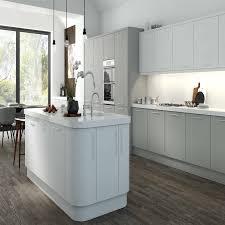Grey Kitchen Aura Super Matt Dove Grey Kitchen Cabinet Doors Topdoors