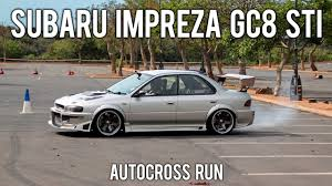 subaru gc8 widebody subaru impreza gc8 sti sibaya autocross run youtube