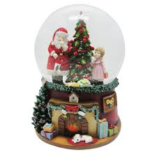 snow globe with at the tree