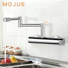 wall mount single handle kitchen faucet mojue folding kitchen faucet and cold water kitchen mixer tap