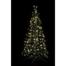 plush white artificial tree with lights chritsmas decor