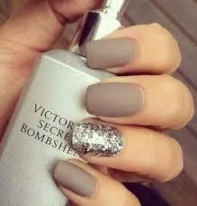 matte cream brown nails with big glitter accent i u0027m a nail