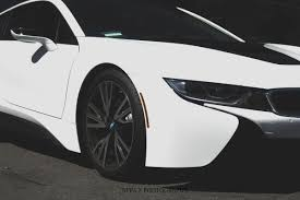 matte white bmw matte white wrapped bmw i8