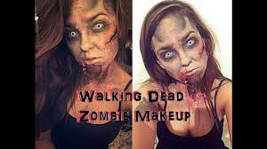 walking dead inspired zombie sfx halloween makeup idea youtube