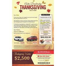 Thanksgiving Mail To X 13 Thanksgiving Direct Mail Marketing Card