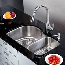 30 Inch Drop In Kitchen Sink Kraus 30 Inch Undermount 60 40 Bowl 16 Stainless