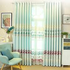 Green Curtains For Living Room by Blue Chevron Print Linen Striped Modern Chic Curtains