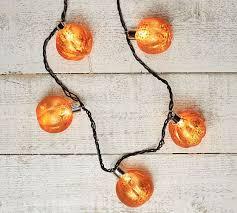 c lights string orange mercury glass pumpkin string lights pottery barn