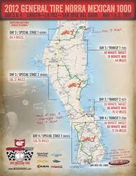 Map Of Cabo San Lucas Mexico by Map Of Day Three And Four Of Norra Mexican 1000 2012 Streetwise