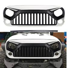 jeep light bar grill front angry bird w7 white grille hood for jeep wrangler jk rubicon