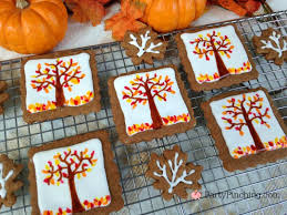 autumn gingerbread cookie tutorial fall leaf cookies easy to make