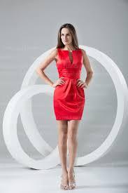 red mini cocktail dresses sash satin 2016 short evening