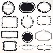 vector frame set ornamental vintage decoration stock vector