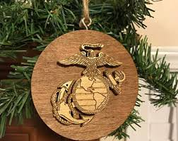usmc ornament marine corps wood ornament