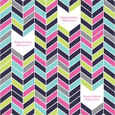 personalized wrapping paper colorful chevron personalized wrapping paper pricing options