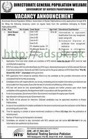 directorate general population welfare khyber pakhtunkhwa jobs