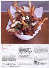 magazine cuisine qu ec poutine chronicles cooking light magazine