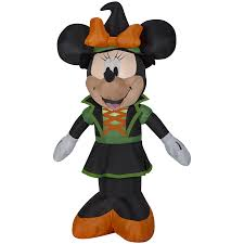halloween inflatable shop disney mickey u0026 friends 3 5 ft x 2 39 ft lighted minnie mouse