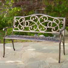 cast aluminum garden benches with examples of appropriate colors