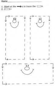 shape trace worksheet for preschool kids crafts and worksheets